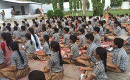 Sanskar-Academy-Students-doing-Yoga